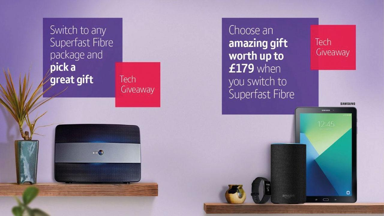 Latest BT broadband offers include giveaways worth up to £179